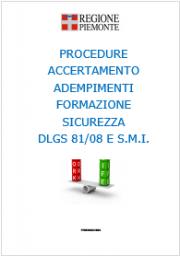 Formazione Sicurezza: Info e Procedure accertamento