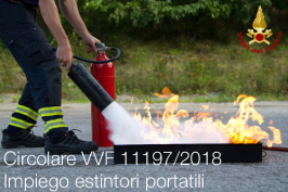 Circolare VVF n. 11197 del 14/08/2018 | Impiego estintori portatili