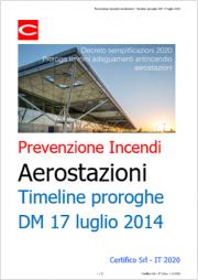 Decreto semplificazioni 2020: Proroga termini adeguamento antincendio aerostazioni