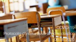 COVID-19: Protocollo d'intesa avvio anno scolastico