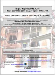 Testo Unico Sicurezza D.Lgs. 81/2008 - 01.2020