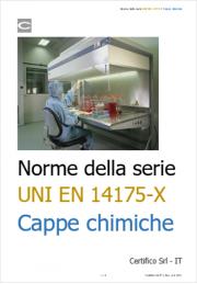 Norme della serie UNI EN 14175-X per le cappe chimiche