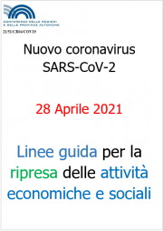Linee guida Regioni e PA per la riapertura delle attività | 28.04.2021