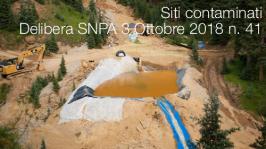 Siti contaminati   Delibera SNPA 3 Ottobre 2018 n. 41