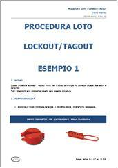 Procedura manutenzione LOTO (Lockout/Tagout): modello editabile con immagini