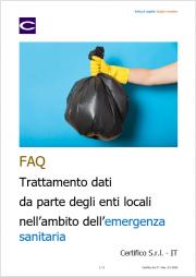 FAQ Coronavirus raccolta dei rifiuti urbani