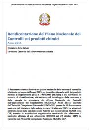 Rendicontazione Piano Nazionale Controlli prodotti chimici 2015