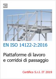Piattaforme di lavoro e corridoi di passaggio: EN ISO 14122-2
