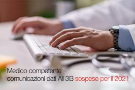 Medico competente comunicazioni dati All 3B sospese per il 2021