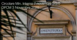 Circolare Min. Interno 7 novembre 2020