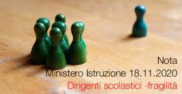 Nota Ministero Istruzione 18.11.2020 Dirigenti scolastici - fragilità