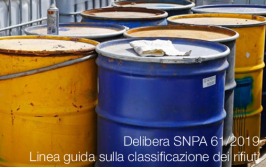 Linea guida sulla classificazione dei rifiuti | Delibera SNPA 61/2019