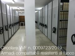 Circolare VVF n. 5014/2019 | Armadi compattabili resistenti al fuoco