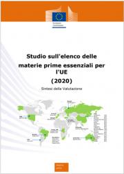 Studio elenco delle materie prime essenziali per l'UE (2020)