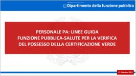 Slides linee guida funzione pubblica-salute verifica certificazione verde PA