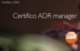 Certifico ADR manager Database