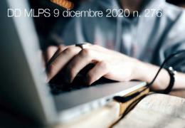 DD MLPS del 9 dicembre 2020 n. 276