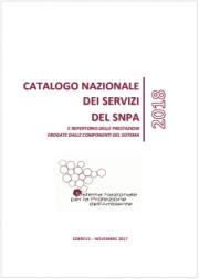 Catalogo Nazionale Servizi SNPA 2018