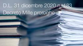 Decreto-Legge 31 dicembre 2020 n. 183