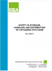 Safety in storage, handling and distribution of cryogenic ethylene