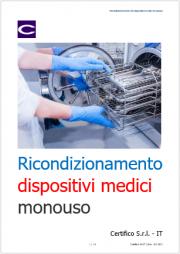 Ricondizionamento dispositivi medici monouso