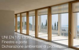 UNI EN 17213:2020   Finestre e porte - Dichiarazione ambientale di prodotto