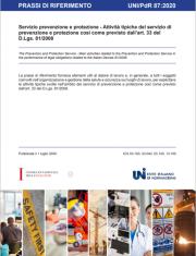 UNI/PdR 87:2020 | Attività tipiche SPP art. 33 del D.Lgs. 81/2008