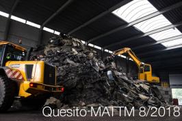 Quesito MATTM 8/2018 - cessazione qualifica rifiuto conglomerato bituminoso