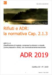 Certifico ADR: un esempio di report di classificazione Rifiuto in ADR