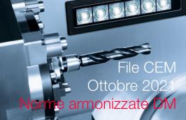 Norme armonizzate Direttiva macchine Ottobre 2021: il File CEM