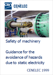 Hazards due to static electricity machinery