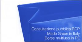 Consultazione pubblica RCP Made Green in Italy Borse in PE