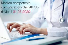 Medico competente comunicazioni dati All. 3B rinvio al 31.07.2020