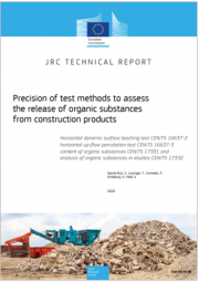 Methods to assess the release of organic substances from construction products