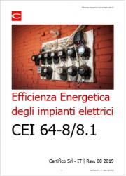 Efficienza Energetica degli impianti elettrici