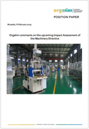 Position Paper Orgalim |  Impact Assessment of the Machinery Directive