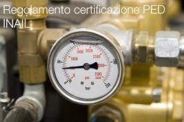 Regolamento certificazione PED - INAIL
