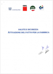 Salute e sicurezza - Attuazione del Patto della fabbrica