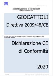 Dichiarazione CE di Conformità | Direttiva 2009/48/CE Giocattoli