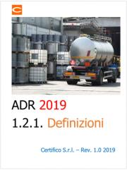 ADR 2019 | Definizioni (sezione 1.2.1)