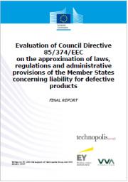 Valutazione della direttiva 85/374/CEE Prodotti difettosi