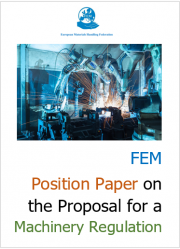 FEM Position Paper on the Proposal for a Machinery Regulation