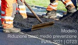 Modello Riduzione tasso medio prevenzione INAIL anno 2021 | OT23
