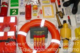 MISE Circolare 2/2017 equipaggiamento marittimo