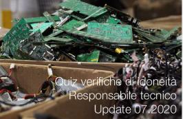 Quiz verifiche di idoneità del Responsabile tecnico | Update 07.2020