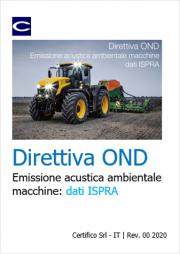 Emissione acustica ambientale macchine: dati ISPRA