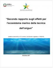 II rapporto sugli effetti per l'ecosistema marino della tecnica airgun