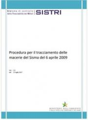 SISTRI  Procedura per il tracciamento delle macerie del Sisma del 6 aprile 2009