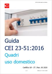 Guida CEI 23-51:2016 Quadri uso domestico