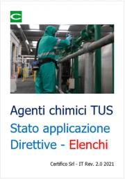 Agenti chimici TUS: Elenchi Sostanze